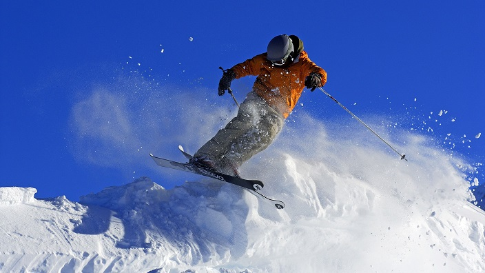 Skier at Tres Valles